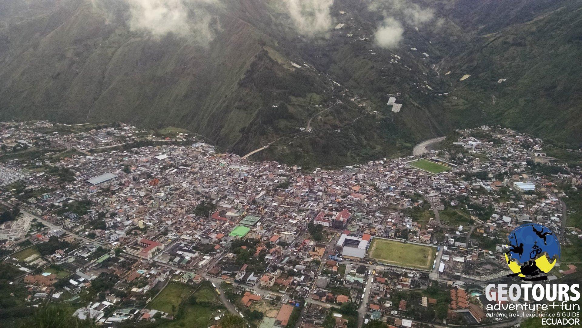 The weather in Baños, Ecuador