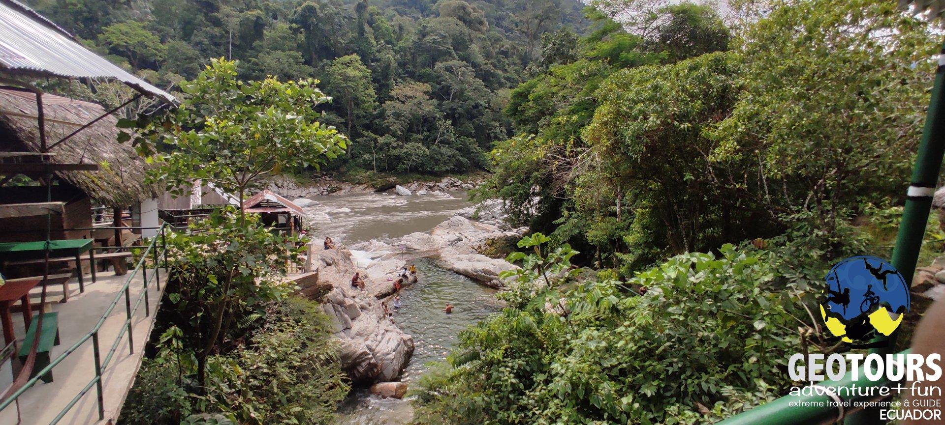 Traveling to La Laguna Azul, Ecuador