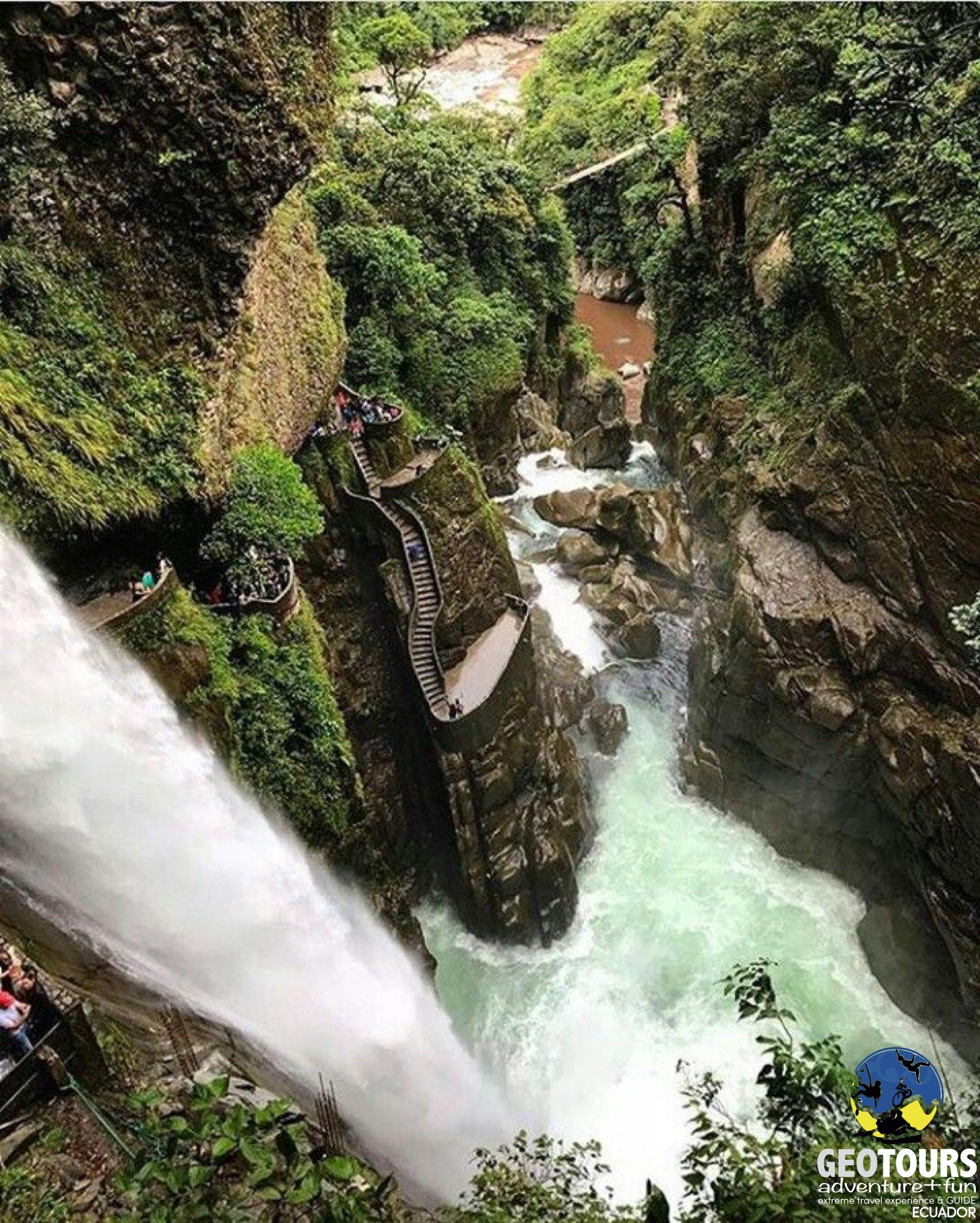 Pailon del Diablo Waterfall in Baños de Agua Santa