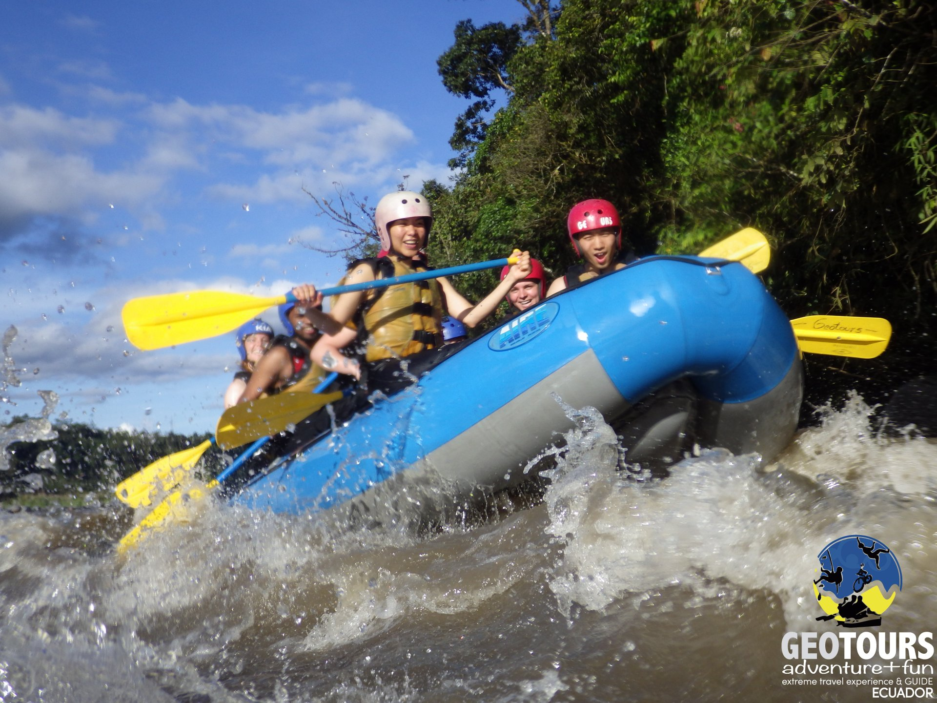 An experience from rafting in Baños