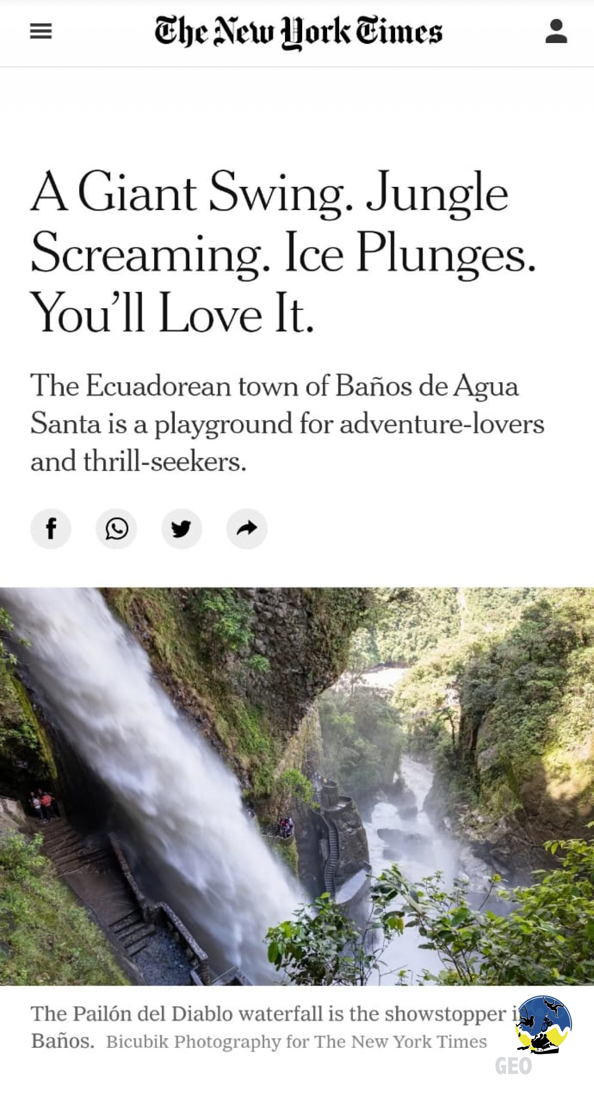 Foto Geotours is in an article in the New York Times