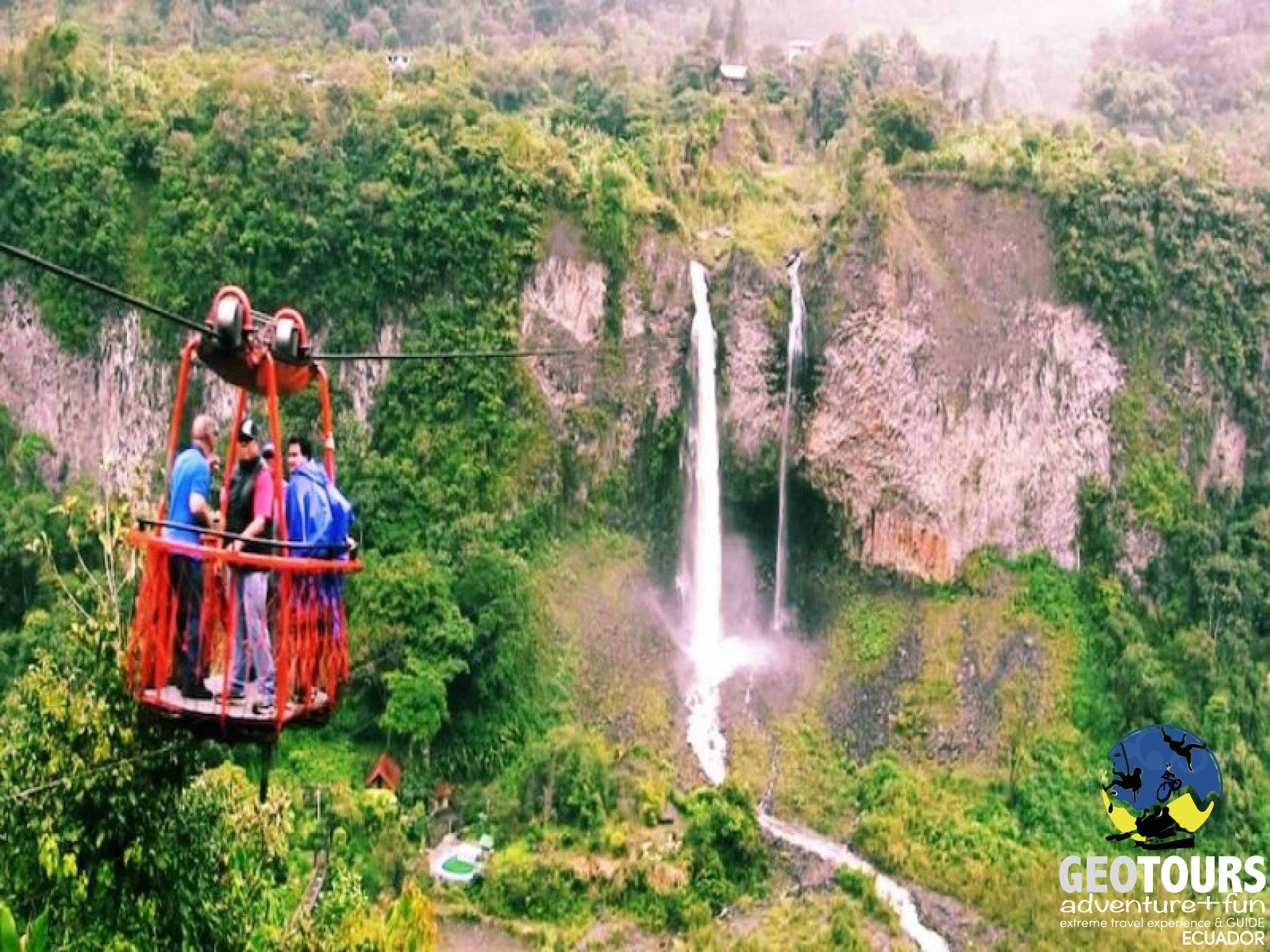 Baños de Agua Santa Waterfalls