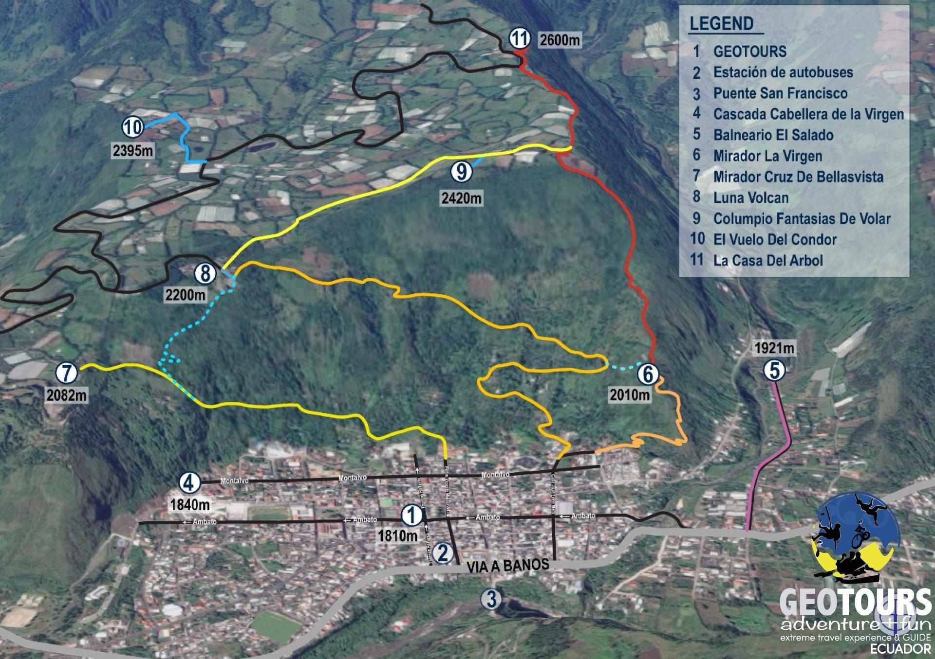 Foto Trails in Baños de Agua Santa