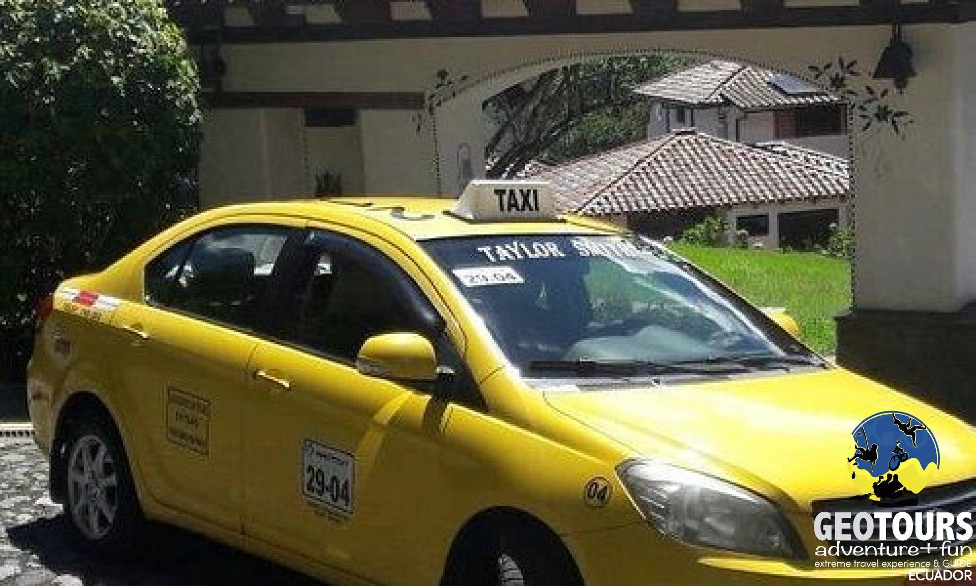 Taxi Guide at Baños de Agua Santa