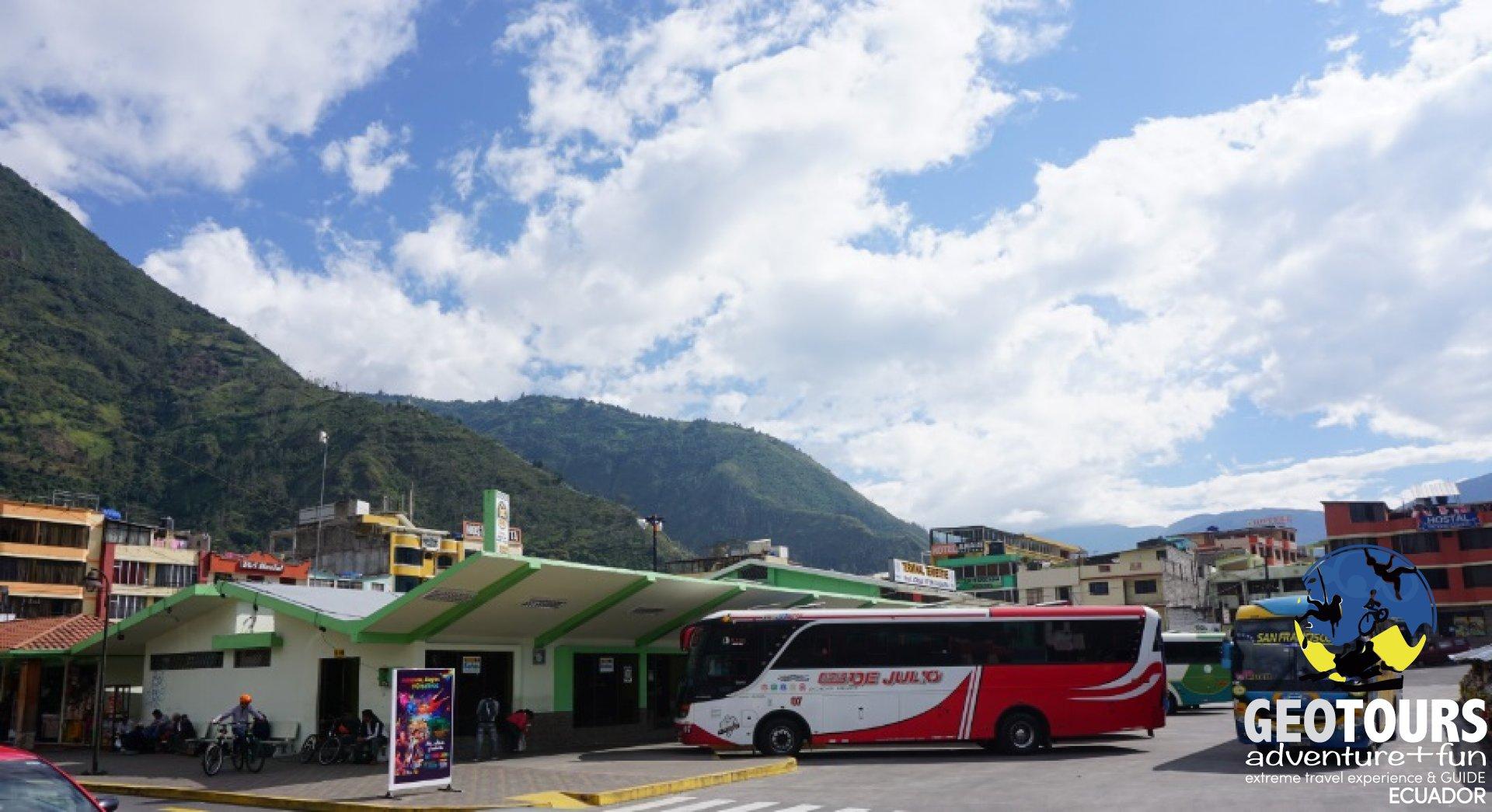 Bus schedules from Baños, Ecuador