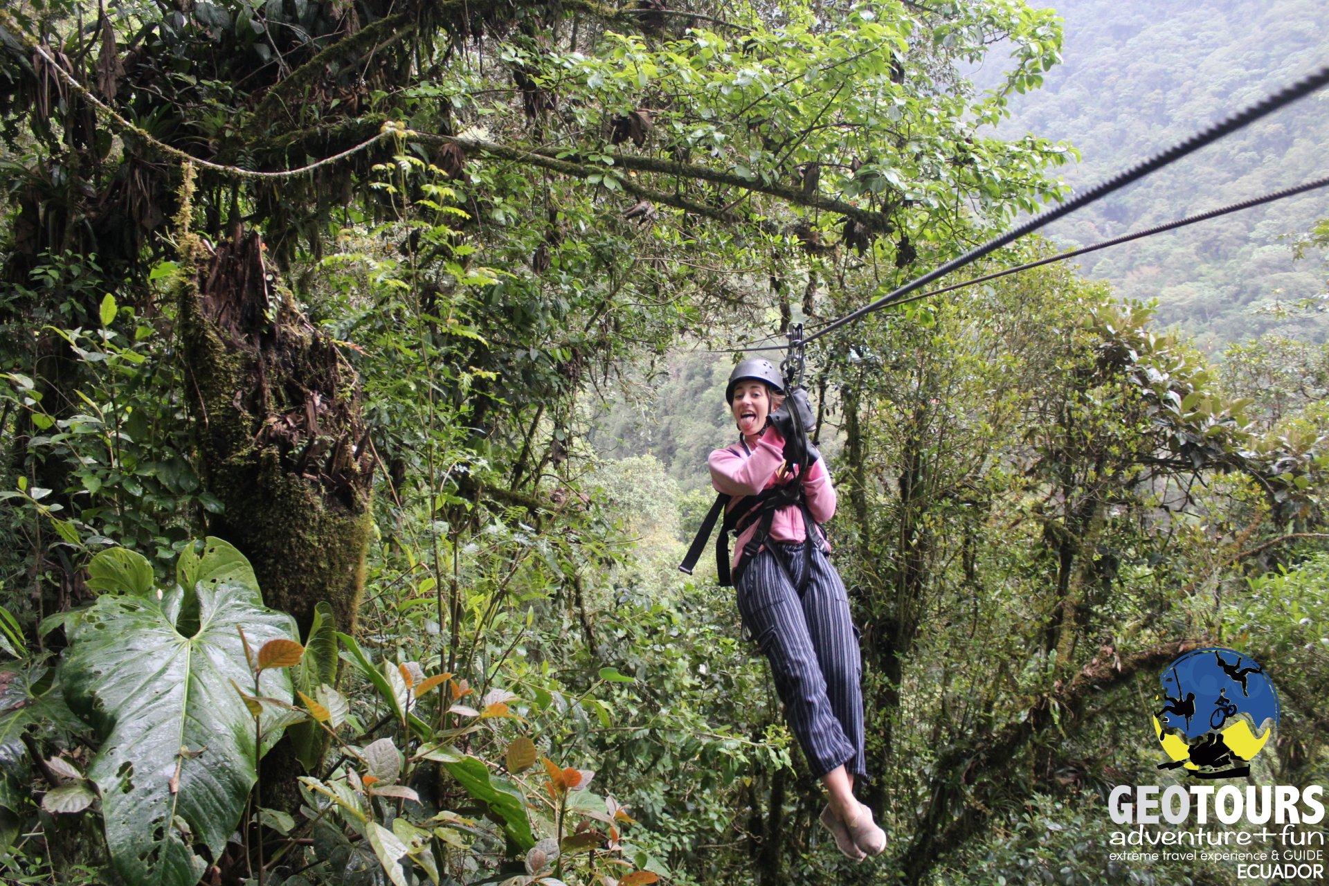 Zip Line Tour san Martín Banos Ecuador